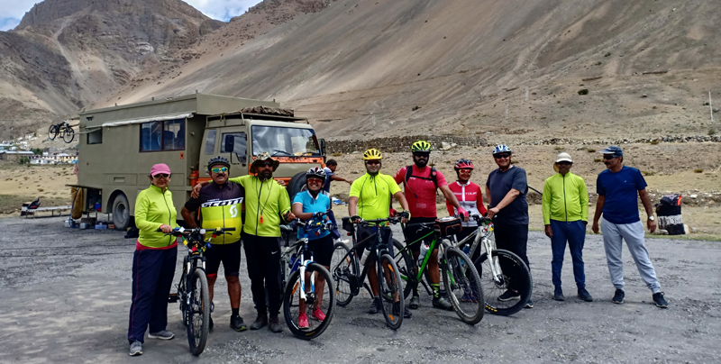 """<img src=""""cycling expedition caravan campervan ladakh.jpeg"""" alt=""""offbeat caravan campervan camp and overland truck on the move in wilderness nomadic with all comforts of camping best energy food manali to leh to kashmir srinagar ladakh"""">"""