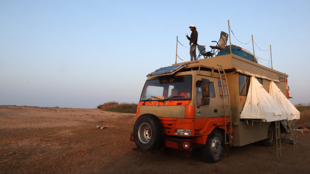 "<img src=""Offbeat caravan campervan camping.jpeg"" alt=""luxury nomadic glamping camping unique experience of outdoor overlanding offbeat camp holiday away from touristy crowd to relax unwind quiet silent place to stay caravan campervan at secluded beach pingleshwar in rann of kutch gujarat"">"