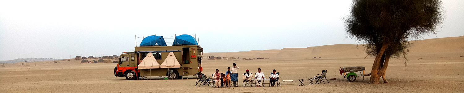 "img src=""caravan recreational vehicle offbeat holidays.jpeg"" alt=""caravan campervan vacation overlanding holiday onboard overland truck vanlife with weber barbecue grill food experience wilderness at sunset sunrise for best family vacation barot valley himachal pradesh ladakh kutch gujarat jaisalmer rajasthan covid19 corona safe soft adventure"">"