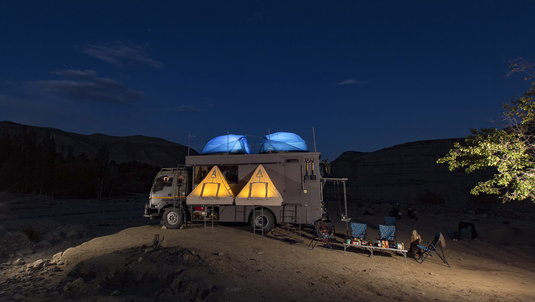 Taurus Tents Lit Up Evening Phey
